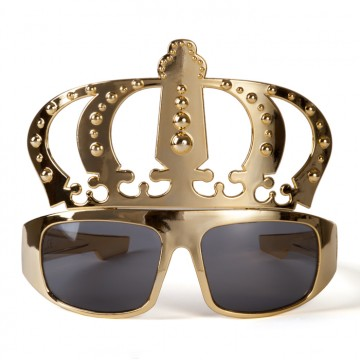 Lunettes couronne or