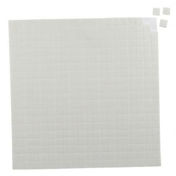 Mousse adhésive 3D 400 carrés 10 x 10 x 2 mm