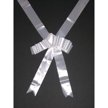 Nœud Blanc pour voiture des Mariés  6 m environ