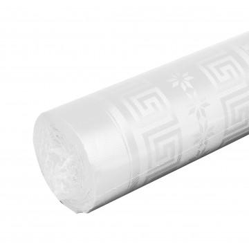 Nappe blanche  papier damassé 25 m