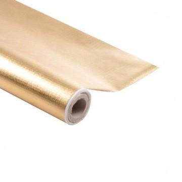 Nappe en papier Or 1,20 m x 5 m Luxe