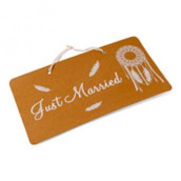 Pancarte Just married  Boho 47 x 26 cm