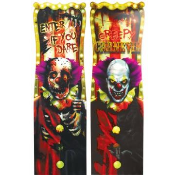 Panneau à prisme Clown effrayant Halloween 94 cm x 30 cm
