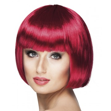 Perruque courte cabaret pour femme rubis