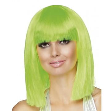 Perruque dance vert fluo