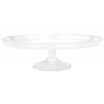 Présentoir à gâteaux transparent jetable PM 24,7 cm