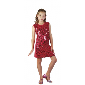 Robe Charleston Flapper rouge taille 7/9 ans