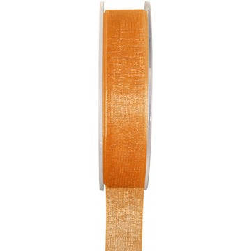 Rouleau de ruban organdi orange 25 m