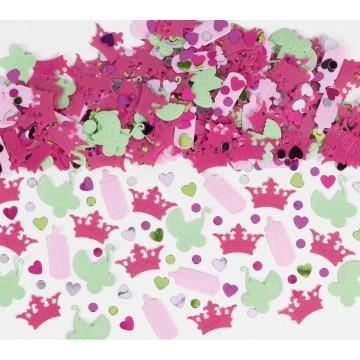 Sachet de Confettis de table Petite Princesse Rose 70 gr