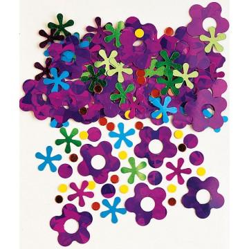 Sachet de Confettis de table Retro Daisy métallique 14 gr