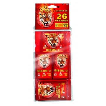 Sachet de Paquet de pétards  assortis Le tigre N°2