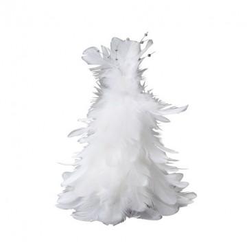 Sapin blanc en plume à suspendre 12 cm