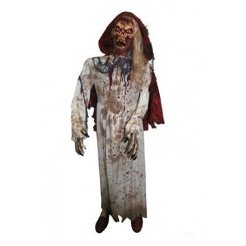 Sorcière zombie ensanglantée Halloween 180 cm