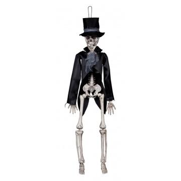 Squelette gothique à suspendre  Halloween 42 cm