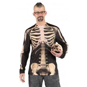 T-shirt photoréaliste squelette homme Halloween