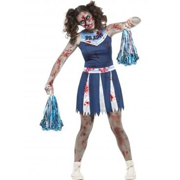 4066d1edaae Déguisement Zombie pompom girl Halloween adolescente