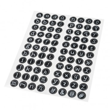 lot de 92 lettres adh sives stickers d 2 cm. Black Bedroom Furniture Sets. Home Design Ideas