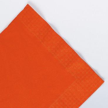 serviettes orange en papier ouate 2 plis 25x25 cm ava. Black Bedroom Furniture Sets. Home Design Ideas