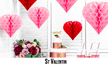 Decorations de salle St Valentin