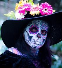 Halloween tête de mort