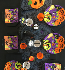 Idée décoration de table Halloween Kids Friendly